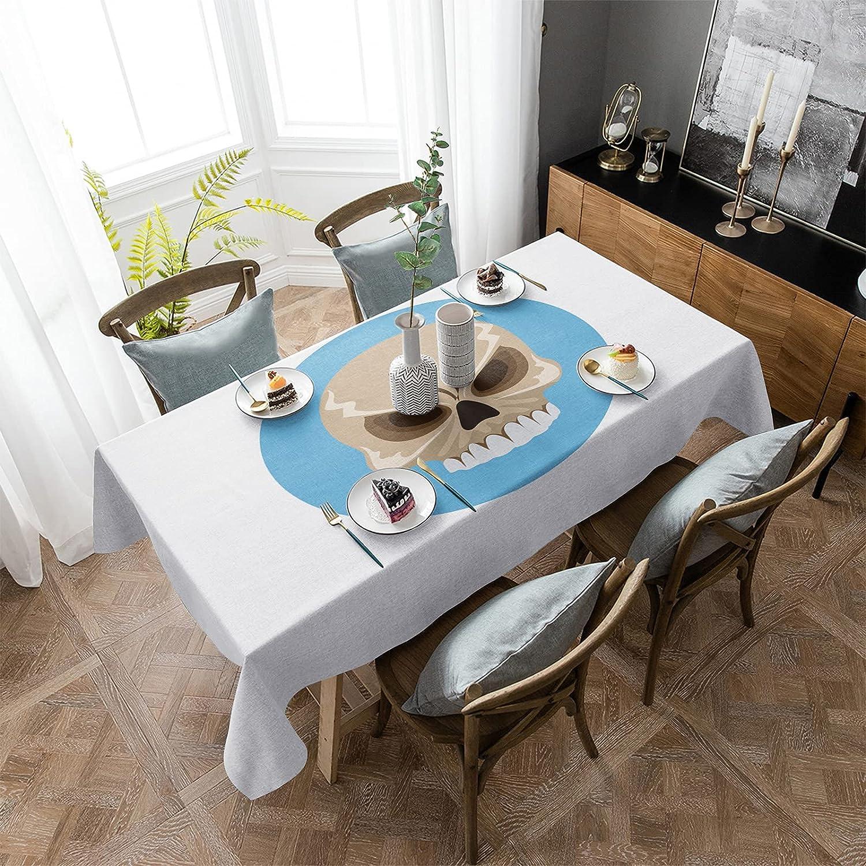 Aomike Linen Max 47% Reservation OFF Rectangle Tablecloth Ferocious Element Sk Halloween