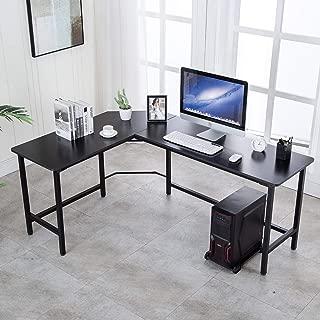 AuAg 66 inch L Shaped Desk Modern Computer Table PC Laptop Study Workstation Corner Sturdy Home Office Desk