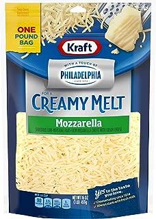 Kraft Natural Shredded Mozzarella Cheese with Philadelphia Cream Cheese (16 oz Bag)
