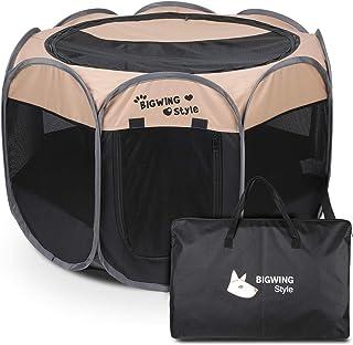 BIGWING Style Box per Cani,2020 Nuovo Pieghevole box,Grande recinto per animali da usare all'interno e all'esterno per can...