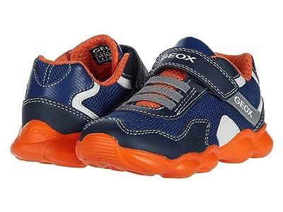 Geox Kids Munfrey 8 (Toddler/Little Kid) (Navy/Orange) Boy