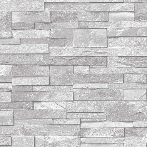 Grey Kitchen Wallpaper Amazon Co Uk
