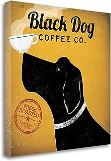Tangletown Fine Art Black Dog Coffee Co Print on Gallery Wrap Canvas, 20 x 20, Multi