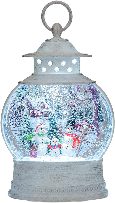 Roman 送料無料でお届けします 133295 Led Swirl Snowman Scene Christmas inch お買い得 11 Lantern