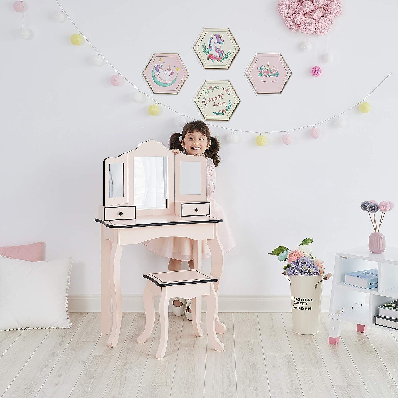 Save money Teamson Kids - Little Lady Gisele Black Set Vanity Toy Regular dealer Pink