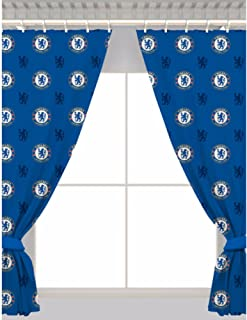 Chelsea FC Official Repeat Soccer Crest Curtains