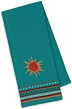 Design Imports Southwest Table Linens, 18-Inch by 28-Inch Dishtowel, Sun Embroidered