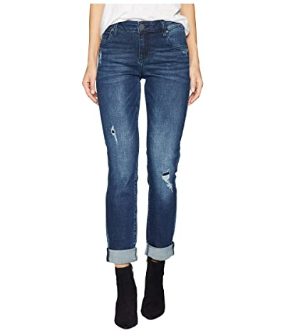 KUT from the Kloth Catherine Boyfriend Jeans in Emphatic (Emphatic/Dark Stone Base Wash) Women