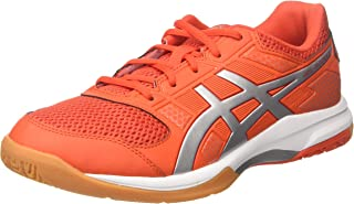 ASICS Gel-Rocket 8 Cherry Tomato/Silver/Fiery Red-All Court Non Marking Shoes for Badminton ; Volleyball ; Squash and Tennis