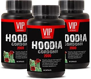 Super Hoodia Gordonii Power - Pure Hoodia Gordonii Extract 2000mg - Hoodia Gordonii Highly Effective Appetite Suppressing (3 bottles 180 capsules)