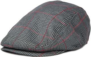 Plaid Pattern Ivy Driver Hunting Flat Newsboy Hat (Dark Grey) d3b610b5ba9a