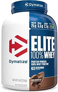 Dymatize Elite 100% Whey Protein Powder, Take Pre Workout or Post Workout, Quick Absorbing & Fast Digesting...