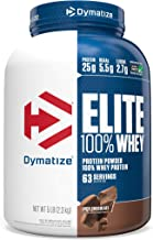 Dymatize Elite 100% Whey Protein Powder, Take Pre Workout or Post Workout, Quick Absorbing & Fast Digesting, Rich Chocolat...