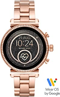 Michael Kors Women's Quartz Wrist Watch smart Display and Stainless Steel Strap, MKT5063