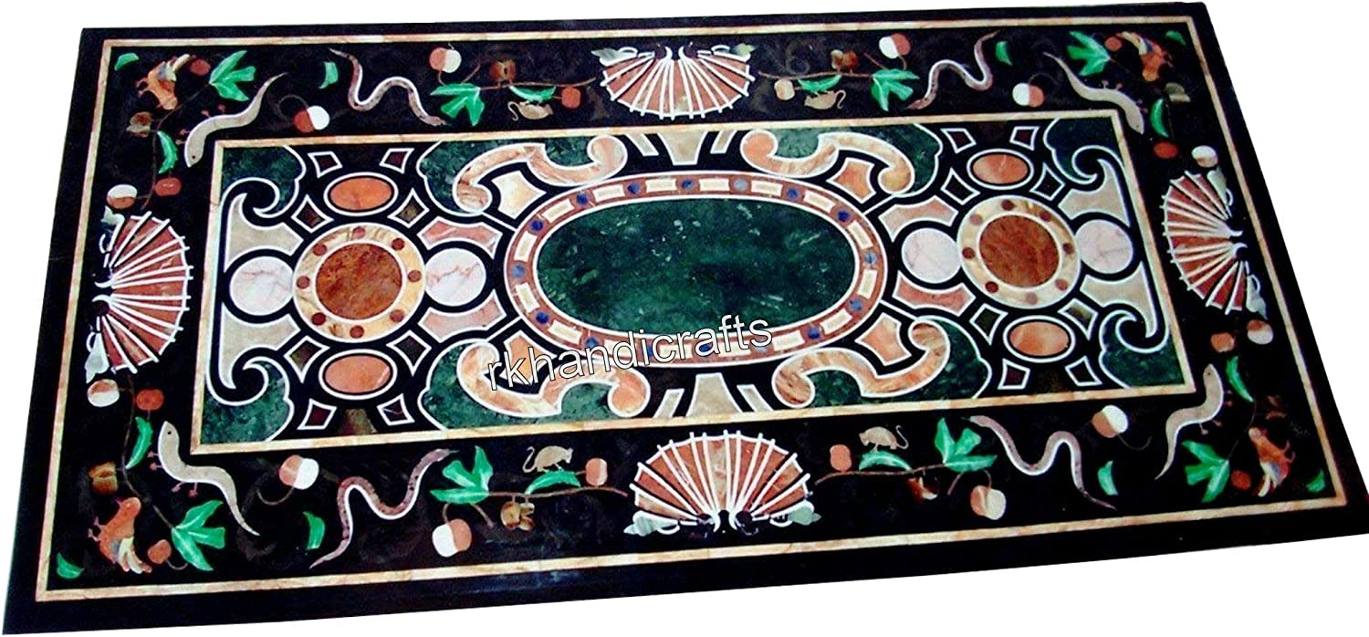 30 x 60 New products world's highest quality popular Inches Multi Gem Inlaid Dining Marquetr Top 2021 spring and summer new Table Stones