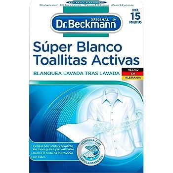 Dr. Beckmann Blanqueador Súper Blanco Toallitas Activas sin Cloro, 15 count
