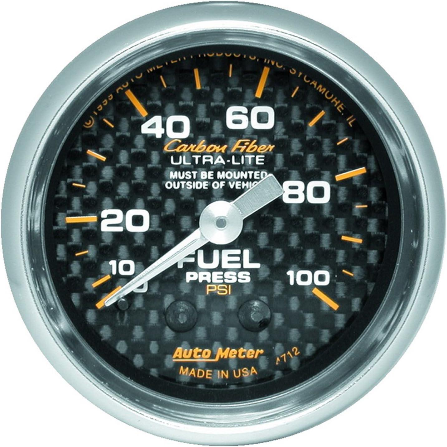 AUTO METER 4712 Carbon Fiber 超定番 Mechanical Gauge Pressure Fuel 予約