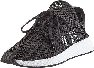 adidas DEERUPT Runner Men's Sneakers, Core Black/Cloud White, 10.5 US