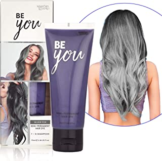 Semi-Permanent Silver Fox Hair Dye - Vibrant 2.36 Oz. Tubes Temporary Hair Color - Ammonia and Peroxide Free -Vegan and 100% Cruelty-Free Toner - Lasts for 7-15 Shampoos - by Splashes and Spills