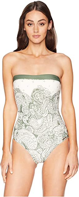 Oasis Tapestry Lace Back Bandeau One-Piece