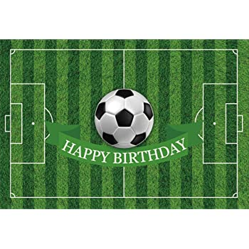 Amazon Com Yeele 7x5ft Birthday Backdrop Soccer Playground Sports Football Field Party Banner Home Photography Background Infant Children Boy Girl Baby Portrait Photo Booth Shoot Photocall Studio Props Camera Photo