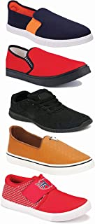 WORLD WEAR FOOTWEAR Sports Running Shoes/Casual/Sneakers/Loafers Shoes for Men Multicolor (Combo-(5)-1219-1221-1140-383-772)