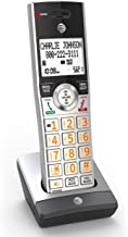 AT&T CL80107 Accessory Cordless Handset, Silver/Black | Requires AT&T CL82207 or Other Models to Operate (Renewed)