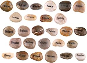 Engraved Inspirational Stones (16 Different Words) from The Holy Land