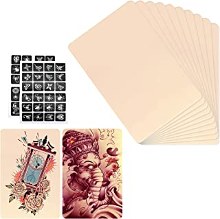 INHEMI 10 stuks tattoo-oefenhuid set, professionele kunsthuid tatoeages, praktijk huid dubbelzijdig - 14 x 19 cm