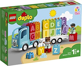 LEGO 10915 DUPLO My First Alphabet Truck Toy for Toddlers 1.5 Year Old, Learning Letters Bricks, Preschool Education