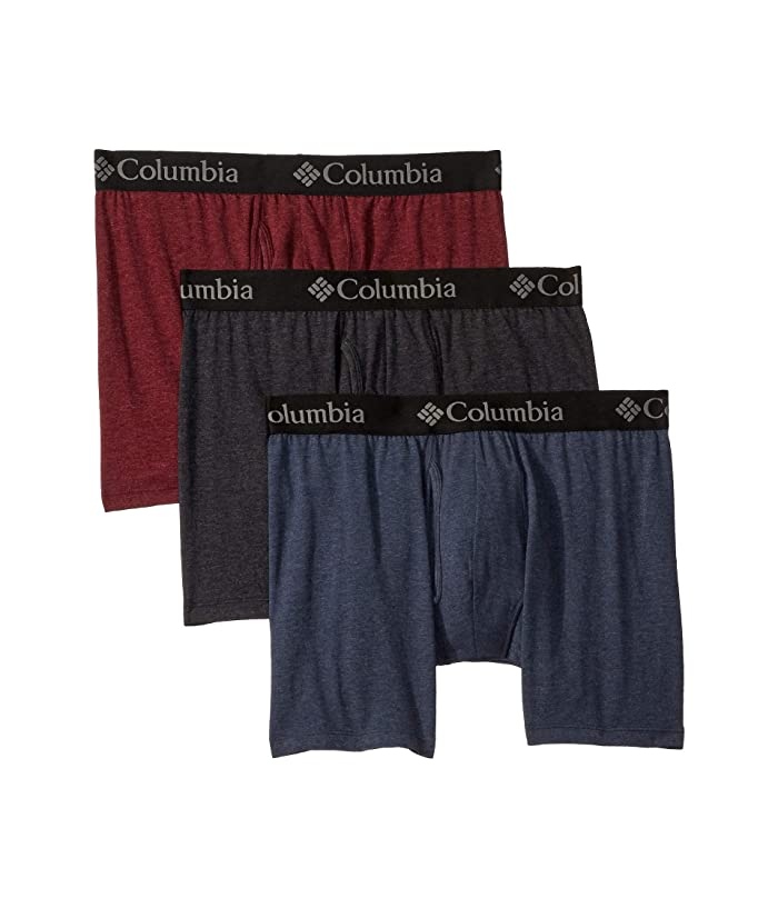 Columbia  Performance Cotton Stretch Boxer Brief (Port Royale/India Ink/Black) Mens Underwear