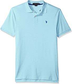 U.S. Polo Assn. Men's Solid Interlock Short-Sleeve Polo...