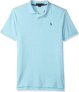 U.S. Polo Assn. Men's Solid Interlock Short-Sleeve Polo...