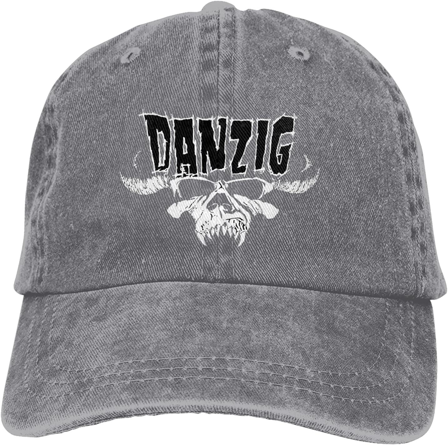 Danzig Cowboy Hat Unisex Adjustable Hat Circumference Size Pure Cotton Denim Wash Water Outdoor