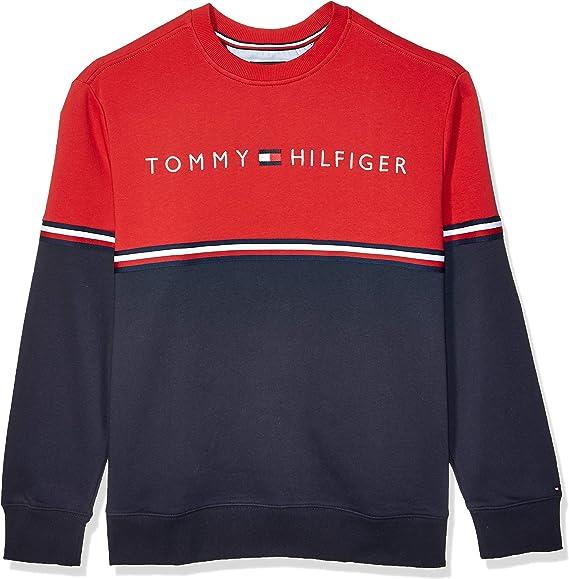 1006 Details about  /Tommy Hilfiger Men/'s Long Sleeve Crew Sweatshirt Sky Captain Navy Medium