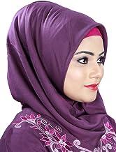 MyBatua púrpura Rayón estilo Hijab, Vestimenta de lujo, bufanda islámica, Al-Amira, musulmanes ropa HJ-020