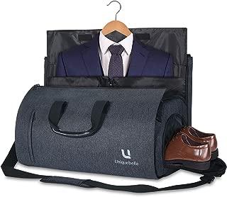 Carry on Garment Bag Large Duffel Bag Suit Travel Bag Weekend Bag Flight Bag with Shoe Pouch for Men Women (Black)