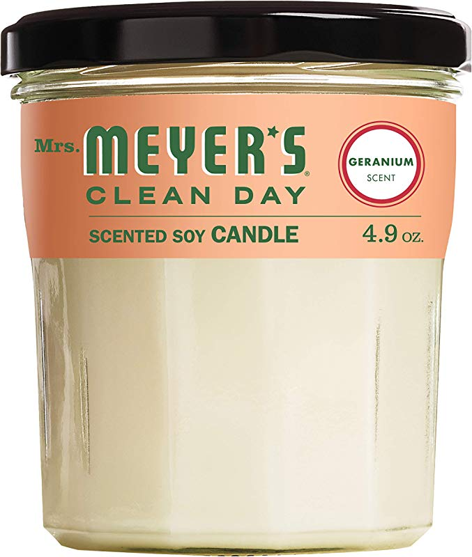Mrs Meyer S Clean Day Scented Soy Candle Small Glass Geranium 4 9 Oz