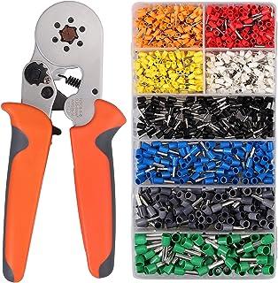 Proster Crimpverktygssats 0,25-6 mm² justerbar kabelterminal 6-6 krimpare med 1200 st AWG 10-22 kontakter crimper tång för...