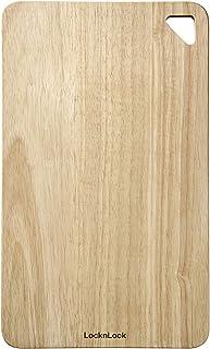 LocknLockHCKD016 Rubber Wood Cutting Board | Medium | Brown | 400 x 240 x 12 mm