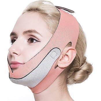 PLEASINGSAN 小顔 ベルト リフトアップ フェイスマスク グッズ メンズ レディース ピンク 男女共有