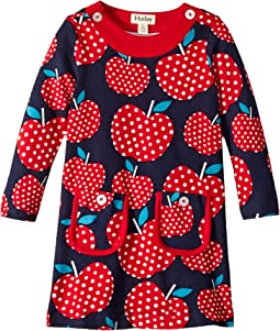 Polka Dot Apples Mod Dress (Toddler/Little Kids/Big Kids)