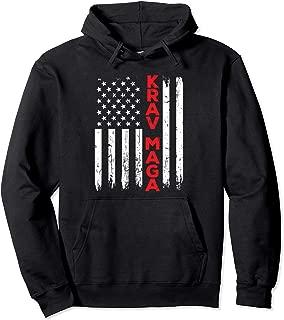 Krav Maga Self Defense USA American Flag Fighter MMA Pullover Hoodie