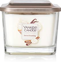 Yankee Candle Company Elevation Collection with Platform Lid, Medium   3-Wick, Sweet Frosting