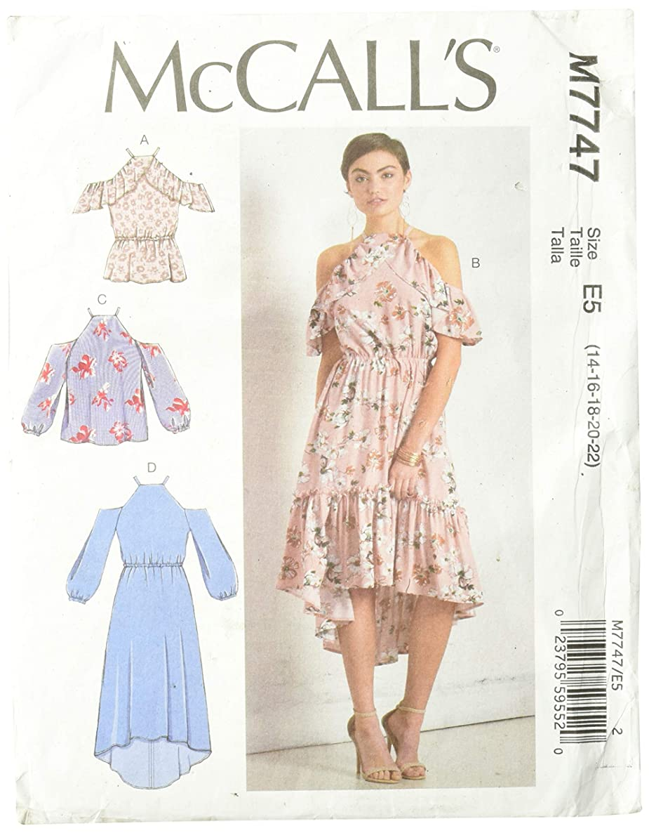McCall's Patterns M7747E50 Misses' Tops and Dresses, E5 (14-16-18-20-22)