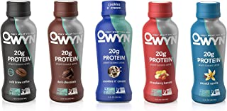 OWYN, Vegan Protein Shake, 5 Flavor Variety Pack ,12 Fl Oz, 100-Percent Plant-Based, Dairy-Free, Gluten-Free, Soy-Free, Tree Nut-Free, Egg-Free, Allergy-Free, Vegetarian, Kosher (Pack of 10)