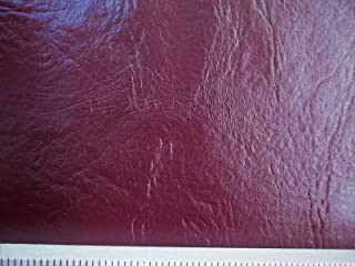 Discount Fabric Choose Your Color Faux Leather Upholstery Pleather Vinyl (Yard, Burgundy Wine)