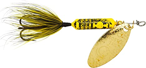 Yakima Bait Wordens Original Rooster Tail 1/8oz Spinner Lure, 3 Pack- Bumblebee