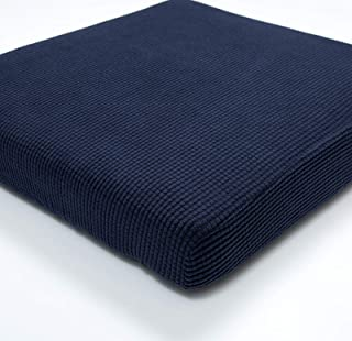 Argstar 1 Seater Couch Chair Cushion Cover Spendex Loveseat Sofa Seat Slipcover Furniture Protector Navy Blue
