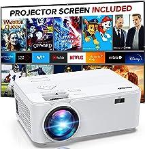 مینی ویدئو پروژکتور 1080P ، پروژکتور قابل حمل برای سینمای خانگی ، BIGASUO پروژکتور فیلم در فضای باز برای Android / iOS / HDMI / USB / SD / VGA [شامل صفحه نمایش پروژکتور]